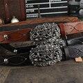 Cráneo Hebilla de Cinturón de Cuero Genuino Cinturón Vaquero Heavy Metal Dragón de Metal Hebilla de Correa de Los Hombres Ceinture Homme Jeans Punk Cinturón MBT0291
