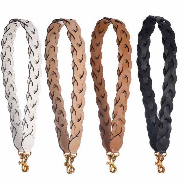 AUTEUIL designer ladies bag accessories 2018 straps your fashion bag with leather shoulder strap ladies long braided belt
