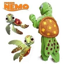 Купить с кэшбэком Kids Sea Turtle Costume Ocean Animal Green Chelonia Mydas Cosplay Halloween Finding Nemo Fancy Dress Kids Animal Pajamas