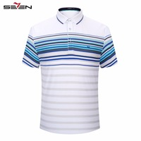 Seven Brand 2016 Summer Golf Polo Shirt Man Slim Quicl Dry Cotton Clothing Male Short Sleeve