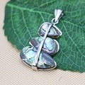 25x36mm Ethnic Chic Accessories Series 3Parts Abalone seashells sea shells pendant embroider crafts jewelry making design diy gi