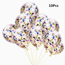 10Pcs Confetti Balloon Wedding Decoration Inflatable Clear Latex Balloons Birthday Party Celebration Decor