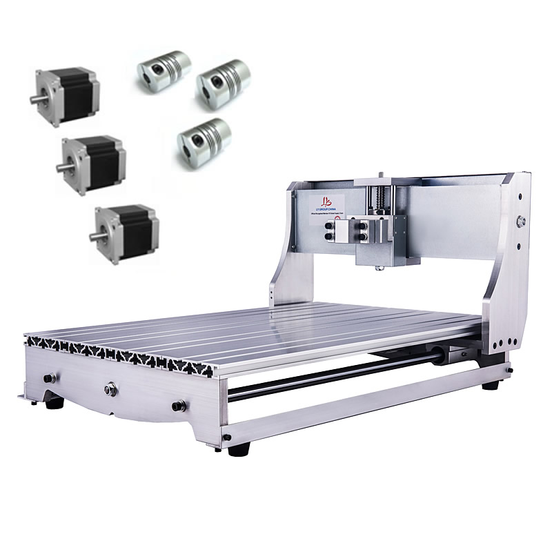 6040 Rack CNC Engraving Machine Frame Kit with 3pcs Couplings NEMA 23 57 stepper Motor Bracket