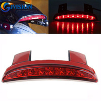 Smoke/Red 12V Motorcycle Motorbike Mudguard Edge led tail light for Harley Touring Sportster Iron XL 883 1200