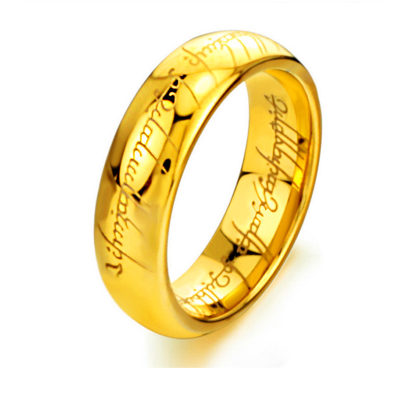 3 Colors Stainless Steel The Lord of the Rings Fashion Men Ring Band Fashion Movie Jewelry Ring For Women 1199