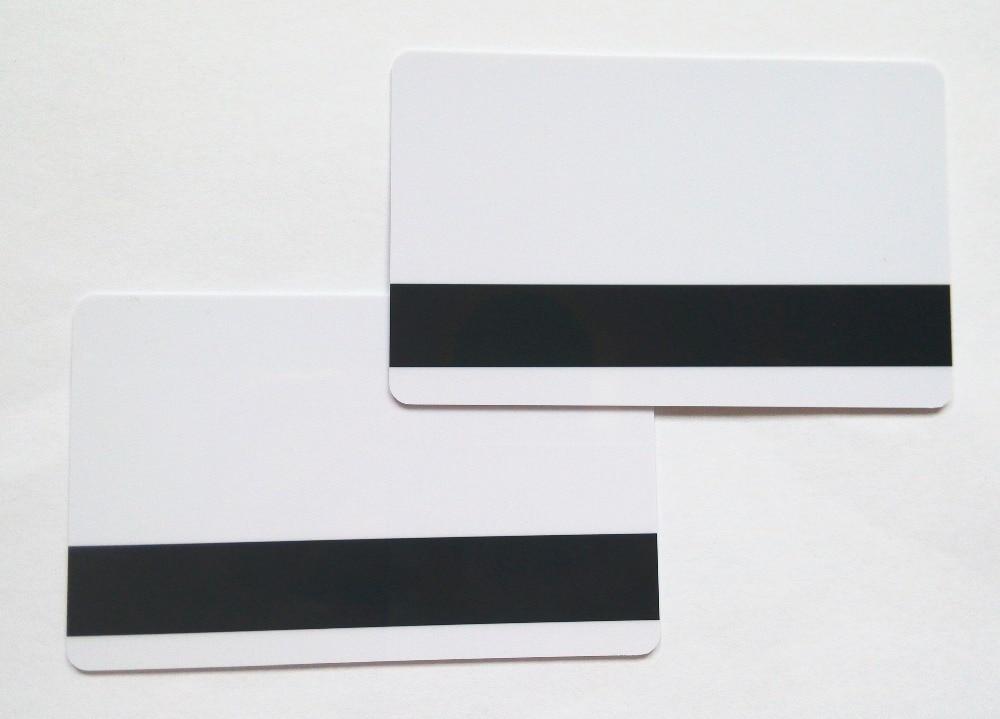 10pcs Blank White PVC Hico 1-3 magnetic stripe card Plastic Credit Card 30Mil inkjet printable 200pcs track 1 2 and 3 magnetic stripe blank card for school library management access control