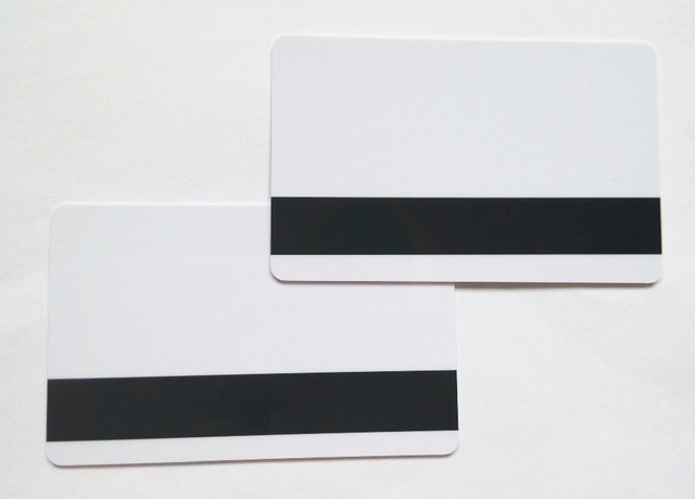 10pcs blank white pvc hico 1 3 magnetic stripe card plastic credit card 30mil inkjet - Plastic Credit Card