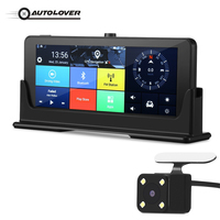 AUTOLOVER 682 DVR Android 5.0 Dash Cam With 3G Sim Card WiFi Front 140 Degree Rear 120 Degree Rearview Mirror