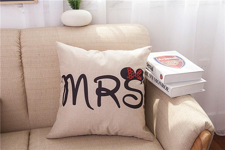 HTB12uNFJVXXXXbXXXXXq6xXFXXXV - Poszewka na poduszkę Mr and Mrs