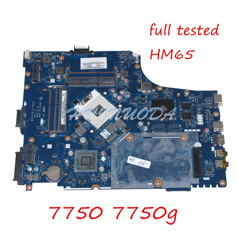 цена на NOKOTION P7YE0 LA-6911P Laptop Motherboard For Acer aspire 7750 7750G HM65 DDR3 HD7400M MBBVV02001 MB.BVV02.001 MAIN BOARD works