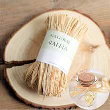 Omilut 10m Natural Raffia Rope DIY  Grass Material Ribbon Wedding Decoration Gift Packing Supp