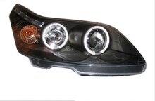 2 個カースタイリングヘッドライトシトロエン C4 2008 2009 2010 2011 ヘッドライトため C4 ヘッドランプ日中走行用ライト DRL バイキセノン HID
