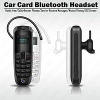 Car Card Bluetooth Headset Hands Free Calls Stereo Audio Music Phone Play Mini single sim card phone Bluetooth dialer Phonebook