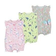 Распродажа лето детские одежда для девочек цельный комбинезон, детская одежда, хлопок короткий комбинезон Одежда для новорожденных девочек roupas