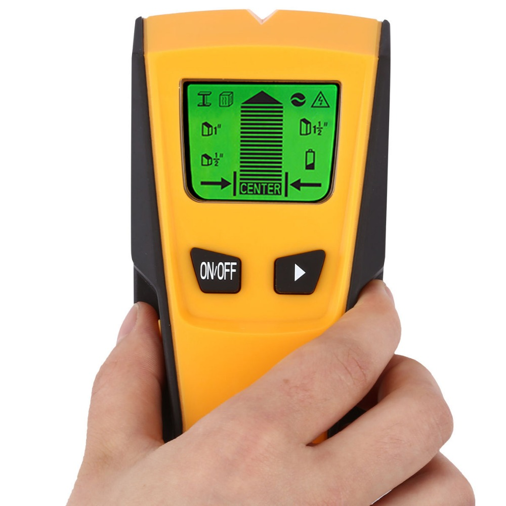 3 In1 Metal Detectors Stud Center Finder Metal and AC live Wire Detector Wall Scanner Electric Box Finder Wall Sensor Detector