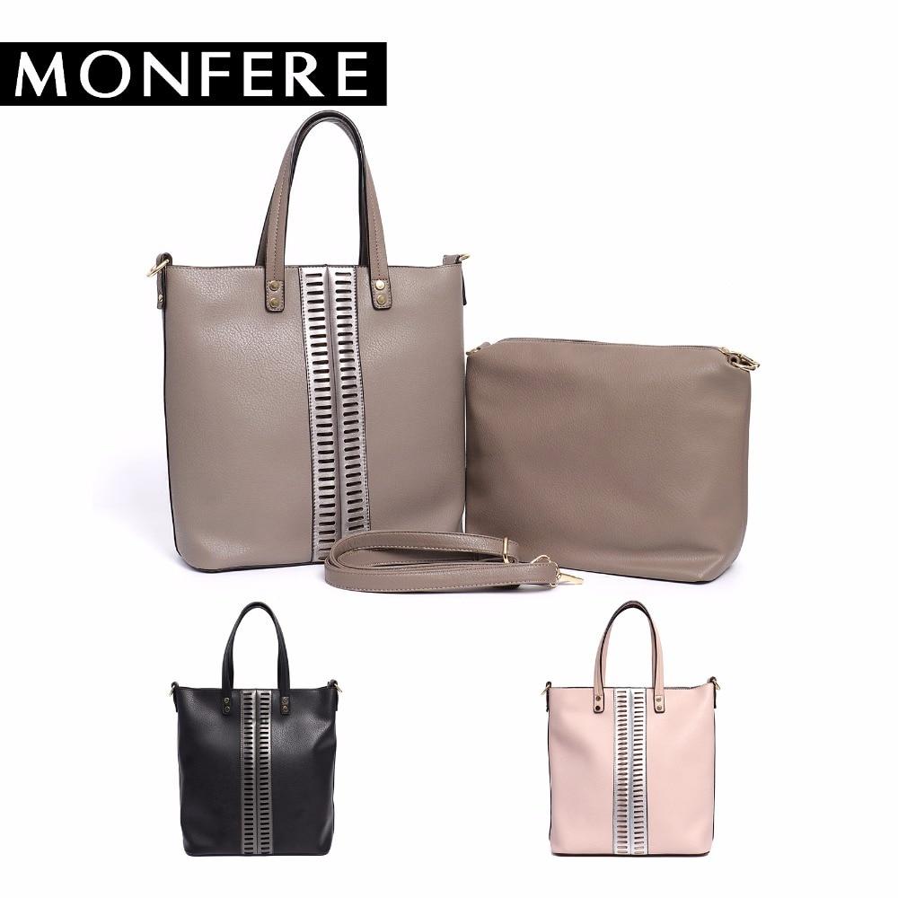 4f0d4cfc23 MONFE Women Vegan Pu Leather Tote Bag New Leisure Large Top handle Bags  Tall Stripe Ladies Casual Crossbody Shoulder Handbag Set-in Top-Handle Bags  from ...