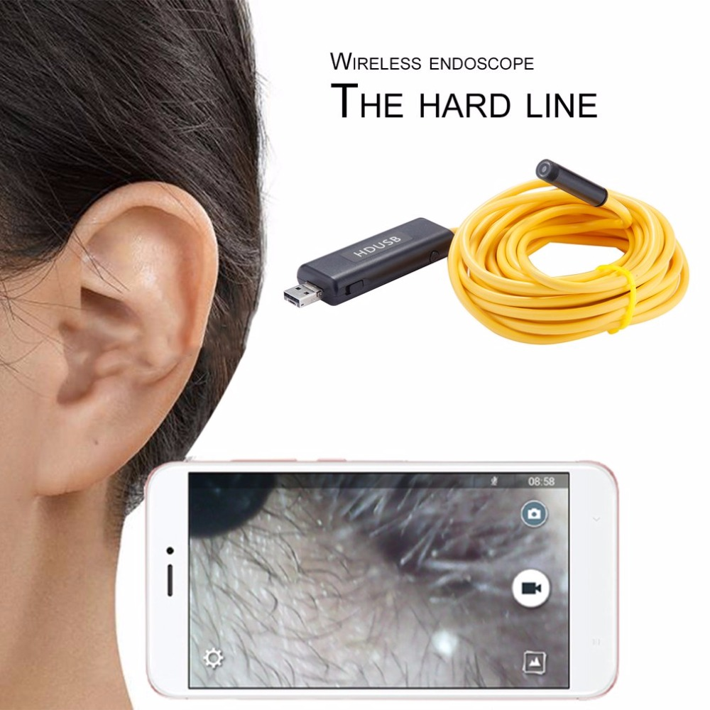 LESHP Wireless USB Endoscope Camera HD Wireless Borescope 6 LED Waterproof Wifi Inspection Camera For android Smartphone Tablet yobang security 9mm wireless wifi endoscope camera for android iphone pc surveillance usb inspection borescope cam for car etc