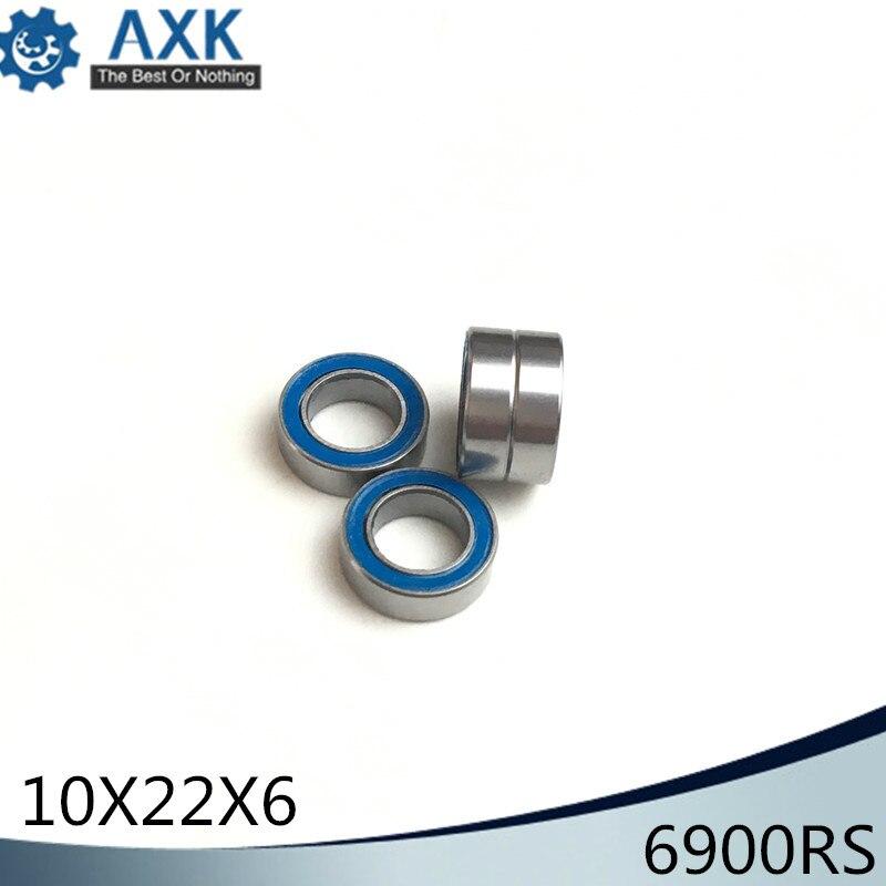 Rubber Sealed PRECISION Ball Bearing 10 PCS BLACK 10x22x6 mm 6900-2RS