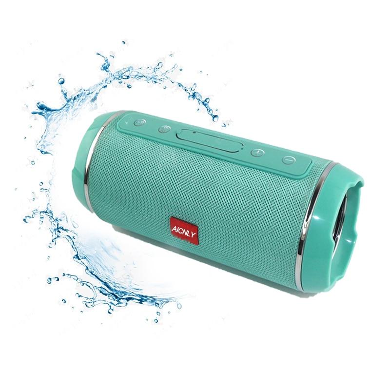 Mini Wireless Spalte Bluetooth 5,1 Lautsprecher Wasserdichte Portable Outdoor Boombox Stereo Spearker Mit Power Bank/Fm Für Telefon