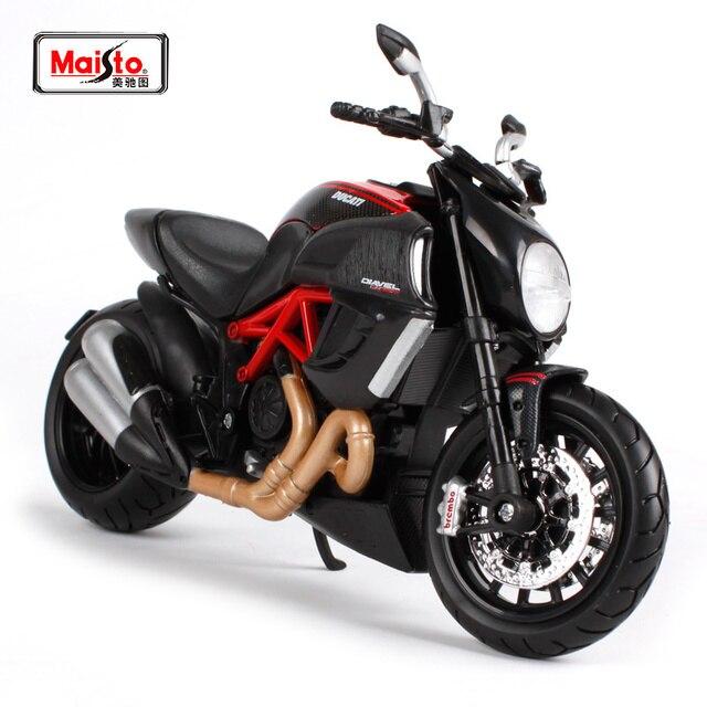 Maisto 1 12 Ducati Diavel Carbon Motorcycle Bike Model Free Shipping