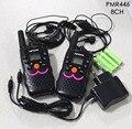 2 шт. twin ВТ8 1 вт портативный handy talkie walkie радио PMR446 Двухстороннее Радио трансивер ж/батареи зарядное устройство VOX наушники