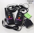 2pc twin VT8 1 watt portable handy talkie walkie radio PMR446 Two Way Radios transceiver w/ batteries charger VOX earphone