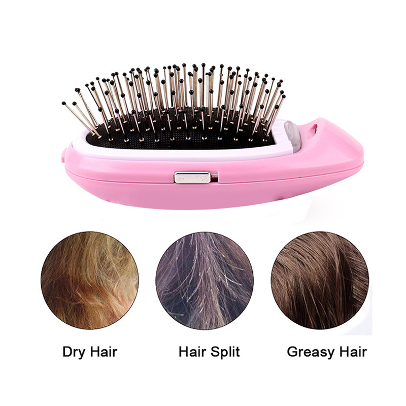 Anti-static Hair Brush Comb Styling Tools Electric Massage Combs for Salon Women Girls Hair Scalp Massage Comb Battery Operated(China)