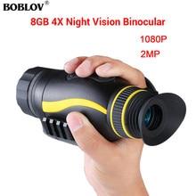 BOBLOV HD 4X35 Infrared Digital Night Vision Scope Monocular Telescope for Hunting Scouting Night Camera Handheld Device цена и фото