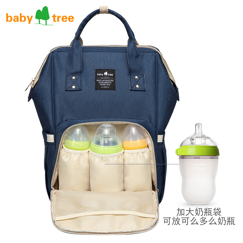 Baby Tree maternity diaper bag waterproof baby stroller bag mom nappy travel backpack baby groot wet bag Large mummy Nursing Bag baby mom changing diaper tote wet bag for stroller mummy maternity travel nappy bag backpack messenger bags bolsa maternidad