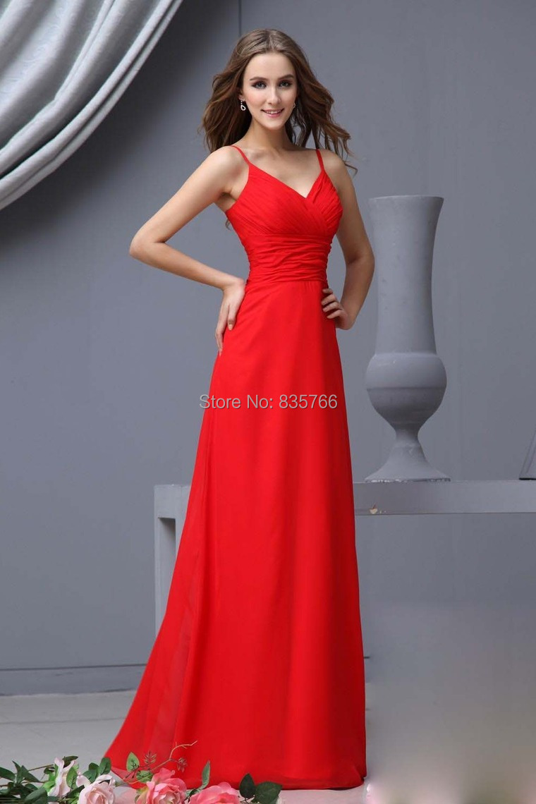 Online Get Cheap Red Long Prom Dresses with Straps -Aliexpress.com ...
