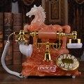 Europa la casa de teléfono fijo teléfono de la vendimia telefono antiguo caballo de resina teléfono antiguo teléfono retro teléfono