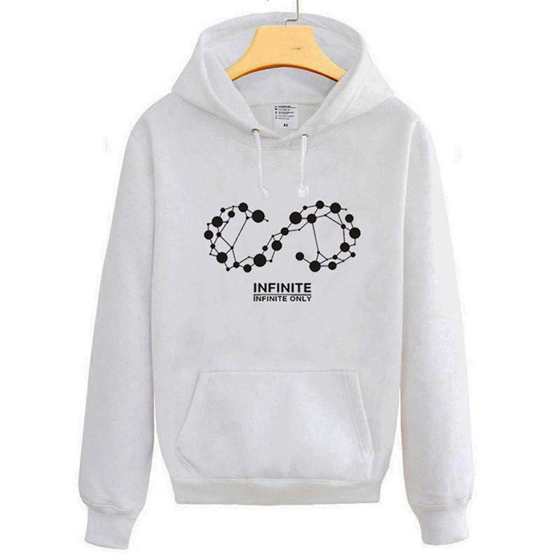 KPOP INFINITE ONLY Album Hooded Hoodie K-POP Casual Cotton Hoodies Clothes Pullover Printed Long Sleeve Sweatshirts WY351