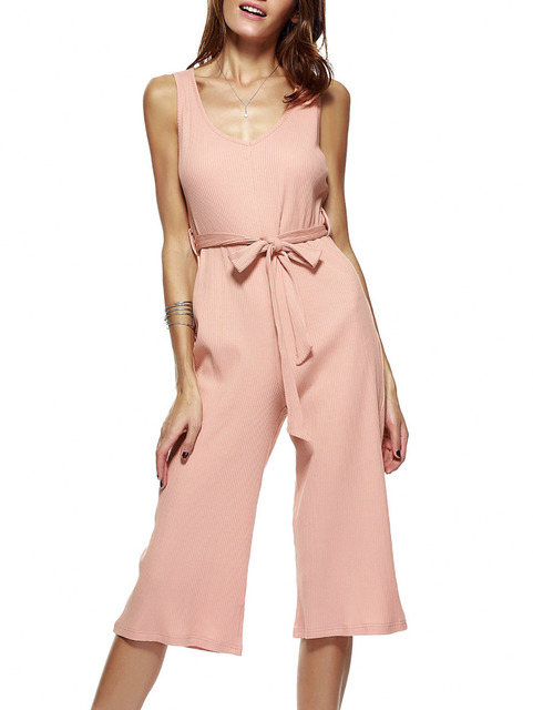 New bodysuit women jumpsuit sexy club ladies rompers Autumn V-neck Belt short sleeve jumpsuits combinaison femme 2016