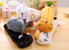 Plush toy 1pc 25cm cartoon dumpling spot cat zero case stationery cute students pencil bag buggy bag stuffed toy creative gift