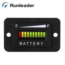 RL-BI003 свинцово-кислотной аккумуляторной Батарея 12V 24V светодиодный Батарея индикатор уровня заряда для гольф-мобиль электрический автомобиль