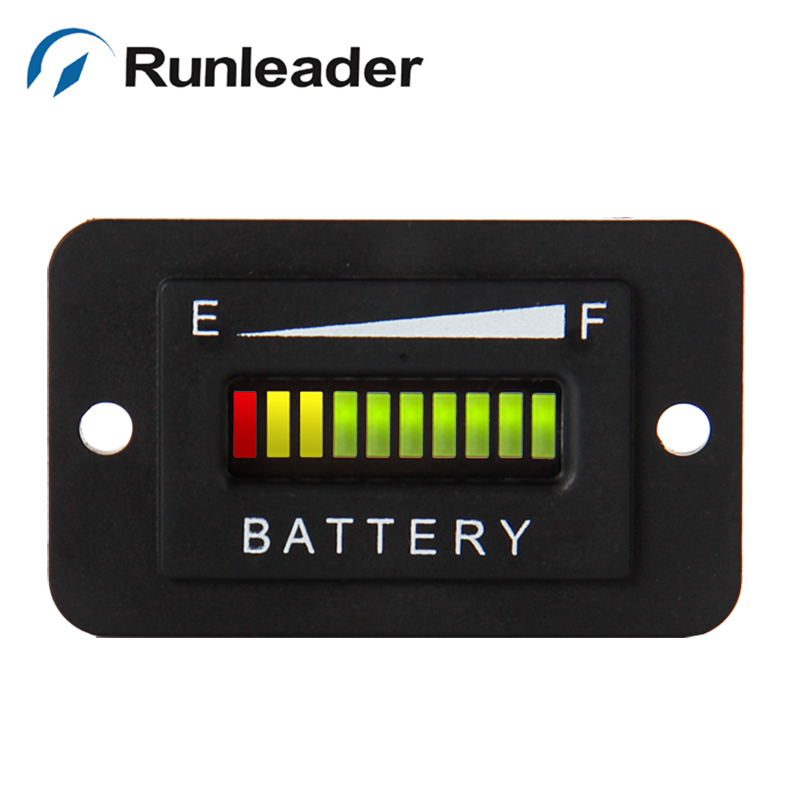 RL-BI003 Lead acid storage battery 12V 24V LED Battery Level Indicator for Golf Kart Truck Electric Vehicle Car