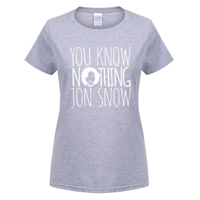 Women T-shirts New Printed Games Of Thrones