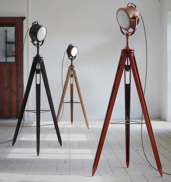 Tripod Living Room Lamp For Floor Lamps Light Fixture Us476 vintage 0 Standing Retro Industry Searchlight In Machinery E14 15Off Loft tdCrxQoshB
