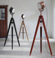 Vintage Floor Lamps tripod lamp Loft Machinery Industry Standing Lamp for Living Room Retro searchlight lamp Light Fixture E14