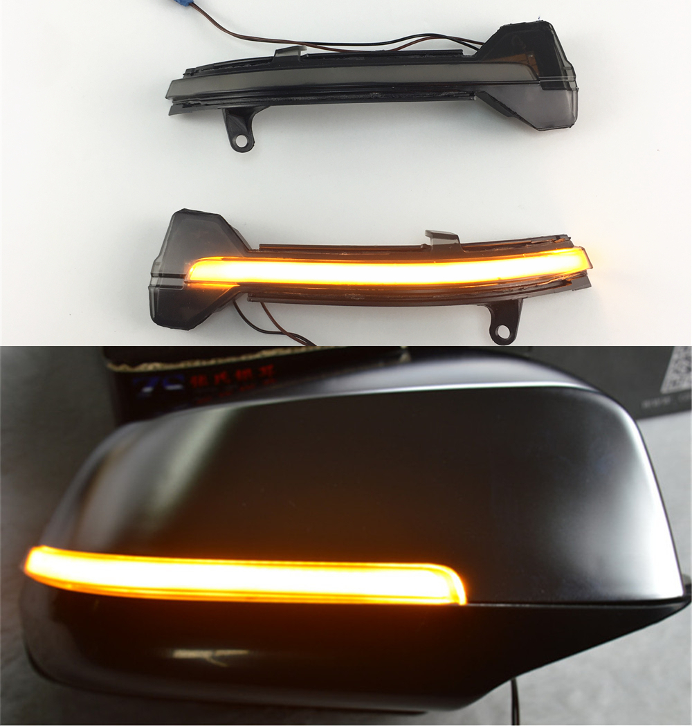 For BMW 5 6 7 Series F10 F11 F07 F06 F12 F13 F01 F02 LED Rear View Mirror Indicator Blinker Repeater Light Dynamic Turn Signal цена