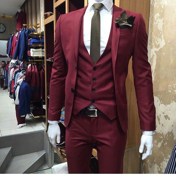 Compare Prices on Mens Slim Fit Suits Burgundy- Online Shopping ...