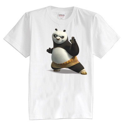 Niños camiseta del verano de manga corta de color panda Camiseta 100% algodón niño niña kid t shirt