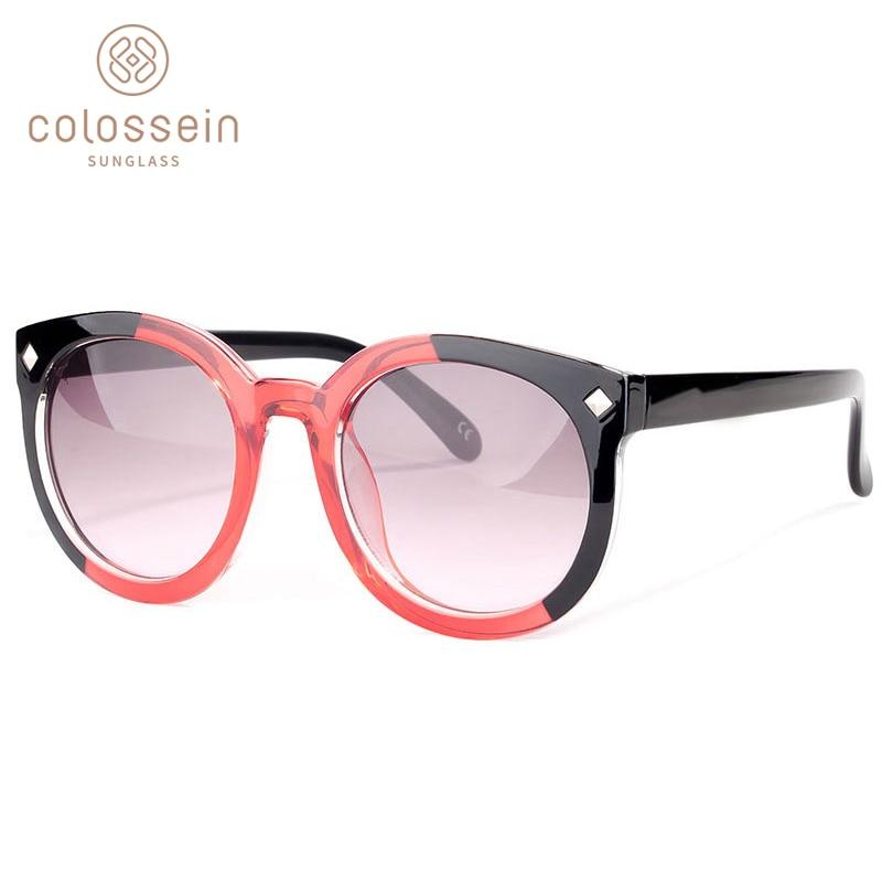 COLOSSEIN saulesbrilles sieviešu zīmola dizaineri modes saulesbrilles apaļas rāmja modis krāsu objektīvs sievietēm jūras pludmales stils UV400