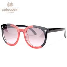 COLOSSEIN Sunglasses Women Brand Designers Fashion Sunglasses Round Frame Modis Color Lens For Women Sea Beach Style UV400