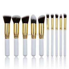 10 pcs Makeup Brushes Kit Fashion Mini Soft Face White Synthetic Kabuki Beauty Cosmetics Foundation Powder Blending Blush Brush