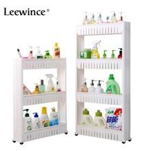 Leewince многоцелевой Ванная комната для хранения стеллаж для хранения мульти многослойный, для холодильника сбоку полка со съемными колесами трещины