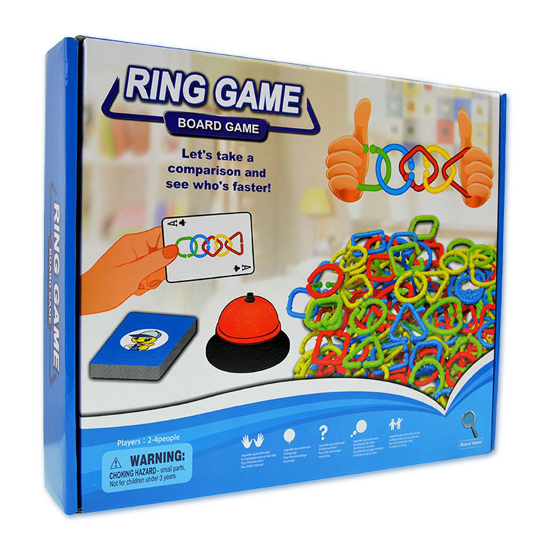 Ring Board Game Education Logical Hinking Games High Quality Plastic Education Game With English Instruc