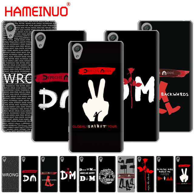 US $1 64 34% OFF|HAMEINUO Depeche Mode DM Cover phone Case for sony xperia  C6 XA1 XA2 XA ULTRA X XP L1 L2 X XZ1 compact XR/XZ PREMIUM-in Half-wrapped