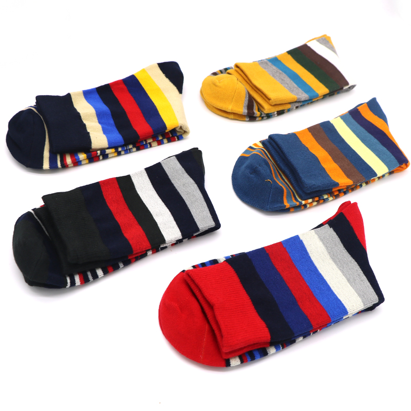 5Pair Mens Funny Socks Colorful 3D Sock For Male Low Cut Thermal Socks Hip Hop Art Striped Socks Chaussette Homme Lot