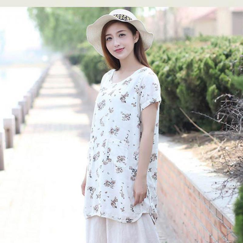2020 New O-neck Short Sleeve Long Irregular Style Shirts Cute Summer Blouse Plus Size Women Clothing Tops Kimono Blusas
